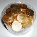Zlaté čokoládové mince s ražbou - balení blistr