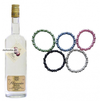 Slivovice Delis se kterou zaperlíte - 50% 700 ml - olympijské perly k destilátu