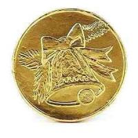 Vánoční mince s ražbou - zvoneček