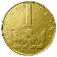 Čokoládová mince s ražbou - 1 koruna